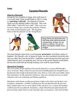 Informational Text SS/ELA Ancient Egypt Pharaohs