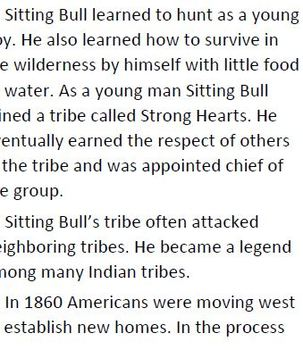 Informational Text Sitting Bull and Crazy Horse