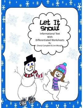 Informational Text: Snow {Common Core Aligned}