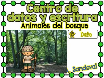 Informational Text Sort/Writing Center -FOREST ANIMALS in Spanish