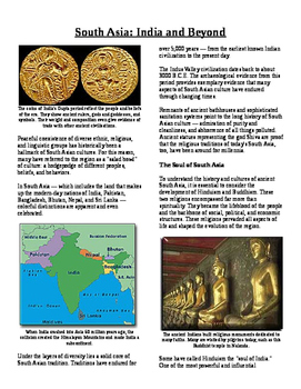 Informational Reading Text - South Asia: Ancient South Asi