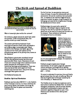 Informational Reading Text - South Asia: Birth and Spread of Buddhism (No Prep)