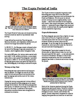 Informational Reading Text - South Asia: India's Gupta Period (No Prep)