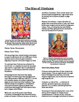 Informational Reading Text - South Asia: The Rise of Hinduism (No Prep/Sub Plan)