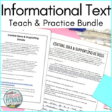 Informational Text Reading Comprehension Passages Bundle D