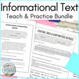 Informational Text Reading Comprehension Passages Bundle E