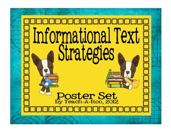Informational Text Strategy  Poster Pack