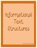 Informational Text Structure Anchor Posters