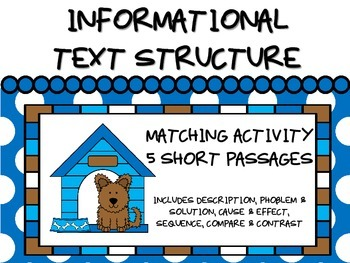 Informational Text Structure - Matching - DOGS!