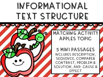 Informational Text Structure - Matching - APPLES!