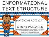 Informational Text Structure - Matching - Basketball!
