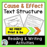 Text Structure Middle School Cause and Effect