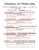 Informational Text Structure Notes