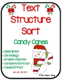 Informational Text Structure Passages Sort - Christmas/Holiday Candy Canes
