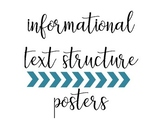 Informational Text Structure Posters & Reference Sheet