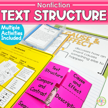 Informational Text Structure Posters and Flap Book (Common Core Aligned)