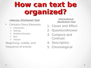 Informational Text Structure Power Point Presentation