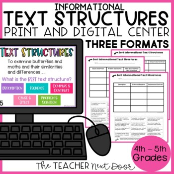 Informational Text Structure Sort | Game | Center