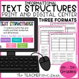 Informational Text Structures Sort Print and Digital Dista
