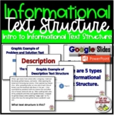 Reading Nonfiction Informational Text Structure - Upper Grades