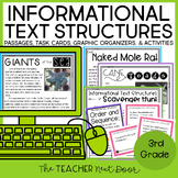 3rd Grade Informational Text Structures Print and Digital