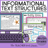 Informational Text Structures Print and Digital Distance Learning