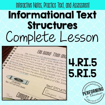 Informational Text Structures: Complete Lesson for Interac