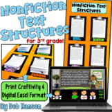 Informational Text Structures Craftivity for 3rd Grade