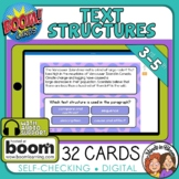 Informational Text Structures Digital Task Cards on Boom Learning!