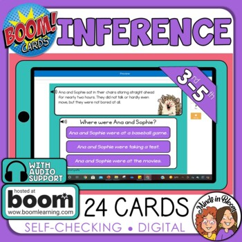 Inference Digital Task Cards on Boom Learning!