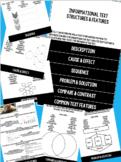 Informational Text Structures & Features Flipbook