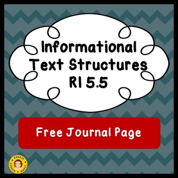 Informational Text Structures - Free Journal Page or Reference Page
