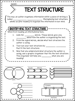 Informational Text Structures {Guided Notes}