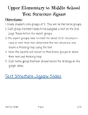 Informational Text Structures Jigsaw