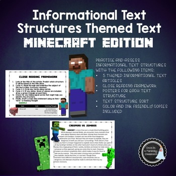 Informational Text Structures - Minecraft Theme