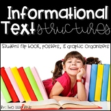 Informational Text: Text Structures Posters, Graphic Organizers, Flip Book