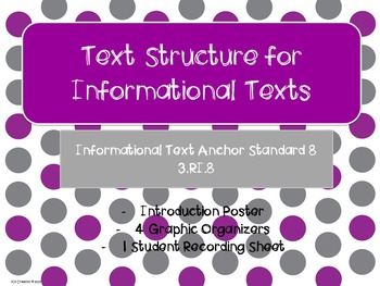 Informational Text Structures Teaching Packet