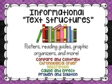 Informational Text Structures:  Posters, Graphic Organizers, and More!