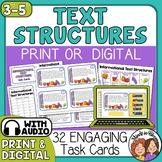 Informational Text Structures Task Cards Print or TpT Digi