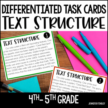Text Structures Task Cards | Differentiated - Google Forms for Distance Learning