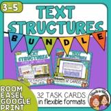 Informational Text Structures Task Cards & Boom Cards Bund