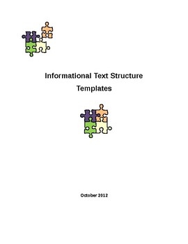 Informational Text Structures Templates