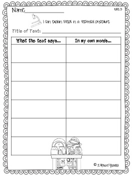 Informational Text Student Anchor Charts
