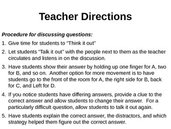 Informational Text-Success for Teens:Discussion Prompts and Test-taking Practice