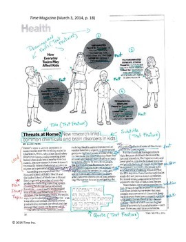 Informational Text. Summary and Analysis (Author's Purpose) (w/ CCSS).