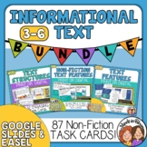 Informational Text Task Card Bundle to Print or Use Digitally