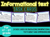 Informational Text Task Cards Reading Strategies