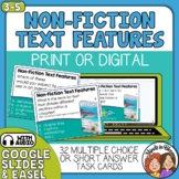 Informational Text Features Task Cards