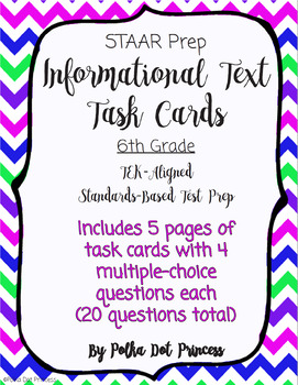 Informational [Non-Fiction/Expository] Text Task Cards - STAAR Test Prep/Review