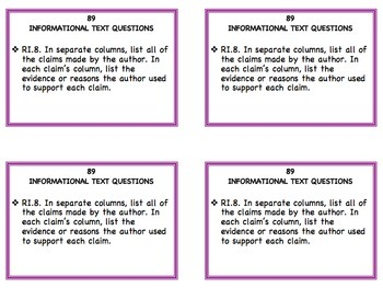 Informational Text Task Cards for ANY Text: Grades 3 - 6